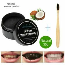 Charcoal Power Teeth Whitening Kit Natural Activated Oral Hygiene Bright White