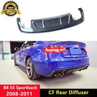 B8 S5 Rear Diffuser Spoiler Carbon Fiber for Audi S5 Sportback 2008-2011