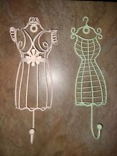 Lot of 2 Metal Dress Form Mannequin Body Boutique Display Decor Sewing Wall Hook