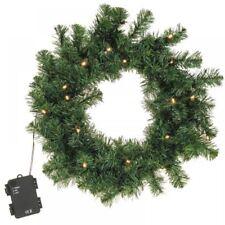 Grande 40cm Iluminación LED guirnalda de Navidad Fiesta Puerta Artificial