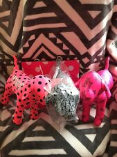 3 Victoria's Secret Pink giant mini dogs vs logo polka dot dog rare limited