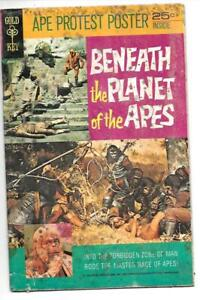 GOLD KEY Comic -  BENEATH THE PLANET OF THE APES  (1970) + APE PROTEST POSTER!