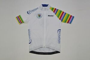 Santini Compass Asset Management SA Cycling Jersey Made in Italy Size L