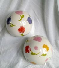 ❀ Posten: 22 x Dekokugel Kugel Rosenkugel 10cm Tischdeko Sommer - Keramik #280