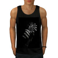 Wellcoda Art Music Guitar Mens Tank Top, Instrument Active Sports Shirt