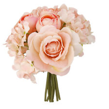 Artificial Fake Silk Flower Hydrangea Wedding Party Home Decor Bridal Bouquet