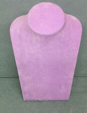 Lg Jewellery Display Bust in lilac Suedette