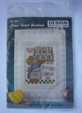 Trentesimo compleanno BLUE CROSS STITCH CARD KIT DA florashell