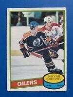 Wayne Gretzky 1980-81 O-Pee-Chee Hockey Card #250 OPC Edmonton Oilers - 2nd Year