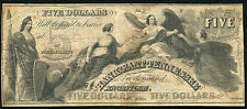 1800'S $5 FIVE DOLLARS THE BANK OF EAST TENNESSEE KNOXVILLE OBSOLETE BANKNOTE
