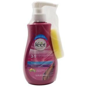 Veet 3in1 Legs & Body In-Shower Cream Hair Remover Sensitive Formula 13.5 fl oz
