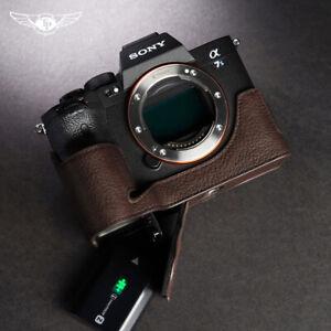 Sony A7S3  A7SM3 Half Case Camera Retro Cover Genuine Leather Insert TP Handmade