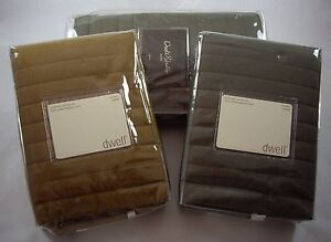 NWT LUXARY DWELL STUDIO QUILTED SHAM 100% COMBED EGYPTIAN COTTON 320 TC PERCALE