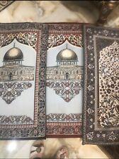Islamic Turkish Luxury Orthopedic Padded Foam Cushion Velvet Prayer Rug -