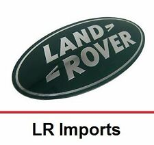 Land Rover Logo Grill Rear Badge Emblem - Dark Green and Silver