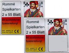 4x55 Romme Karten Kartenspiel Spielkarten Rommekarten Canasta Bridge Skat Poker