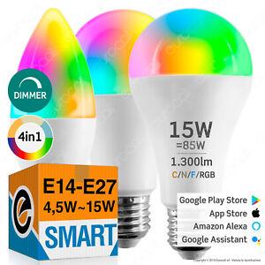 LAMPADINE LED E27 E14 GU10 Faretto Smart WiFi INTELLIGENTI Alexa Google Home?