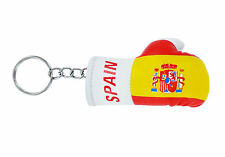 mini boxing gloves keychain keyring key chain ring NEW leather flag SPAIN