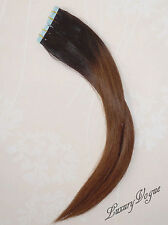 """20""""/52cm 100% Remy Human Hair Super Tape-in Extensions Balayage/Ombre T1B/4"""