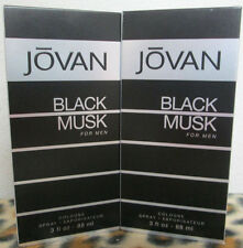 JOVAN BLACK MUSK  3.0 OZ  / 88 ML COLOGNE SPRAY NEW IN BOX FOR MEN