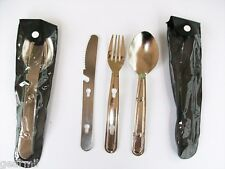 2 Chow Kits STAINLESS STEEL KNIFE FORK & SPOON  CASE MPN 480 ROTHCO