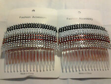 "Combs Plastic Hair Clips Side The Color Pick up 4"" (8pcs)."