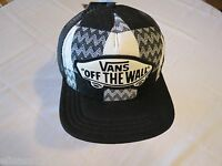 Van's off the wall Vans trucker hat cap NEW Adult womens patch ivory black mesh