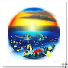 """WYLAND """"SEA TURTLE REEF"""" NEW GICLEE ON CANVAS WITH COA"""