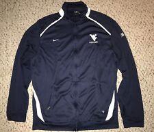Nike Dri Fit West Virginia Mountaineers Soccer Team Issued Full Zip Jacket *M*