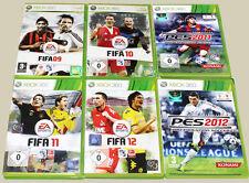 6 XBOX 360 SPIELE SAMMLUNG FIFA 09 10 11 12 PES 2012 2011 FUSSBALL FOOTBALL (15)