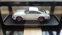 AUTOart 1/18 Porsche 911 2.7 Carrera RS in white with red graphics.