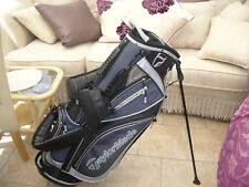 NEW TAYLORMADE STAND CARRY GOLF BAG BLACK AND GREY 8 POCKETS , SHOP DEMO
