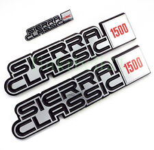 81 82 83 84 85 86 87 GMC Truck Sierra Classic 1500 Fender Dash Emblem Set Badge