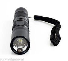 "1 Watt LED Compact Pen Style Size Flashlight Tactical Black 5 7/8"" Security"