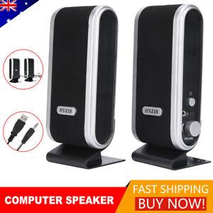 Computer Speakers 2.1 USB Desktop PC TV Audio Player Subwoofer Surround Sound AU