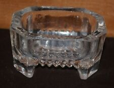 FOOTED LARGE CLEAR VINTAGE DEPRESSION GLASS MASTER SALT CELLAR/DIP