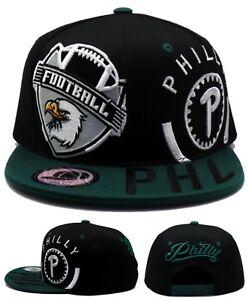 Philadelphia New Leader Philly Monster Eagles Black Green Era Snapback Hat Cap