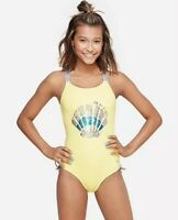 Justice Girl/'s Size 6 Peace Love /& Emoji One Piece Bathing Suit New with Tags