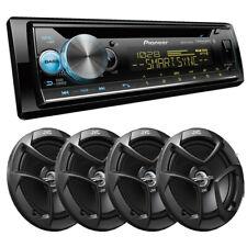 Pioneer DEH-S6100BS CD car stereo Built-in Bluetooth 4X JVC CS-J620 6.5 speakers