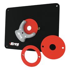 KREG PRS4034 Frästisch Einlegeplatte + 3x Reduzierring 25 mm / 30 mm / 67 mm