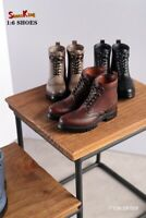 Shoes King 1/6 SK009 Men's High Boots Shoes Model Fit 12'' Male Figure Body Toy