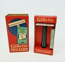 Vintage Gillette Tech Razor - New Old Stock - Never Used! - Box in Box - USA