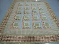 Nice Multi-Color Pieced Square Within A Square w/Frames Quilt