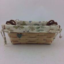 Longaberger 2008 Natural Small Serving Basket Combo Botanical Fields To