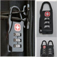 1 2 4 Pcs 3 Digit Combination Padlock Black Number Luggage Travel Code Lock UK