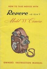 Revere 8 Model 88 Movie Camera Instruction Manual