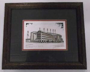 Andrew Paul Drawings of Historic America Jacob's Field 1994 Drawing
