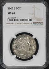 1902-S Barber Half Dollar NGC MS-61 -179245
