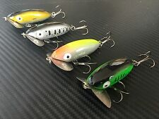 4x Jitterbug Topwater Fishing Lure Popper Pencil Insect Bream Spinnerbait Bass