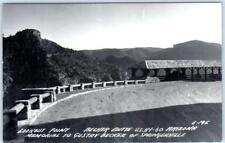 RPPC  BECKER BUTTE, AZ  Hwy 60  GUSTAV BECKER MEMORIAL Lookout 1940s   Postcard